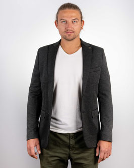 Slim fit, anthrazit melierter Blazer