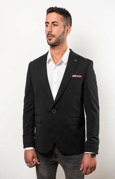 Extra Slim fit, schwarzer Blazer mit Mikrostruktur