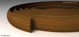 ГИБКИЙ ПРОФИЛЬ (ПОРОГ) TPLAST ГРЕЦКИЙ ОРЕХ 6 мертов + 4 направляющие по 1,5 метра в комплекте