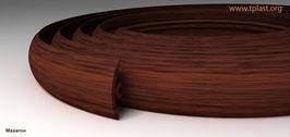 ГИБКИЙ ПРОФИЛЬ (ПОРОГ) TPLAST МАХАГОН 3 мерта + 2 направляющие по 1,5 метра в комплекте