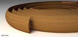 ГИБКИЙ ПРОФИЛЬ (ПОРОГ) TPLAST ДУБ ИЗМИР 3 мерта + 2 направляющие по 1,5 метра в комплекте