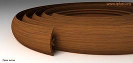 ГИБКИЙ ПРОФИЛЬ (ПОРОГ) TPLAST ОРЕХ АНТИК 3 мерта + 2 направляющие по 1,5 метра в комплекте
