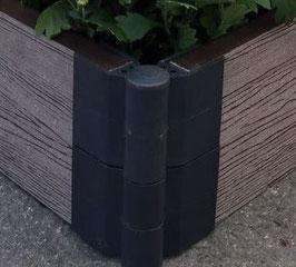 Угловой поворотный элемент 155*30мм