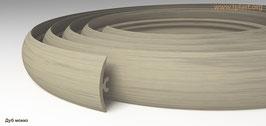 ГИБКИЙ ПРОФИЛЬ (ПОРОГ) TPLAST ДУБ МОККО 3 мерта + 2 направляющие по 1,5 метра в комплекте