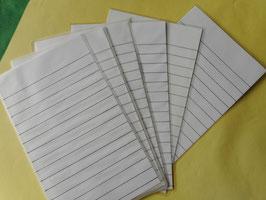 10 Blankokarten für Diktattasche leicht
