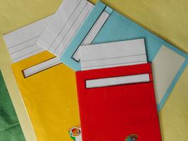 3 Diktattaschen mit Blankokarten