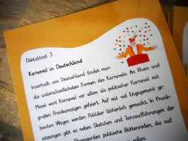 "Diktapaket ""Karneval in Deutschland"""