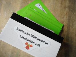 """Infokartei """"Weihnachten"""" 7.-10. Schuljahr"""