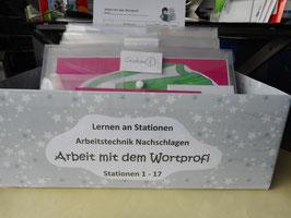 """Lernen an Stationen """"Arbeit mit dem Wortprofi""""  5. - 7. Jahrgang"""