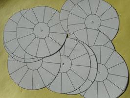 10 Blank-Auftragsscheiben