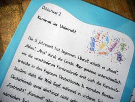 "Diktatpaket ""Karneval im Unterricht"" Klasse 4-6"