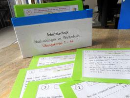 """Übungskartei """"Nachschlagen im Wörterbuch"""" 1-44"""