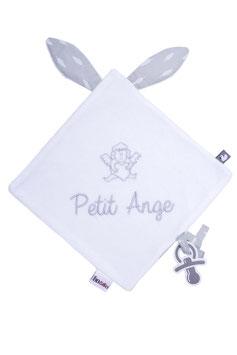 "Doudou "" petit ange "" blanc/gris"