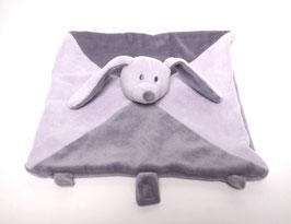 Doudou lapin violet clair/violet foncé