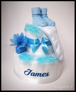 Diaper cake harmonie bleu