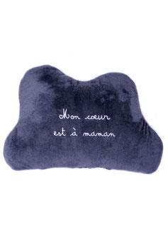 """Coussin décoratif """" mon coeur est à maman """""""