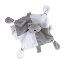 Doudou ours gris/blanc