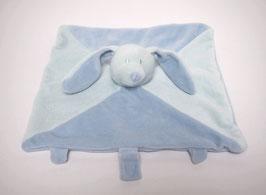 Doudou lapin bleu/vert