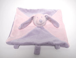 Doudou lapin rose/violet