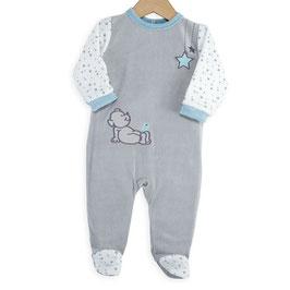 Pyjama ours bleu/gris/blanc 6 mois