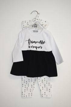 """Tunique + legging + bandeau """" frimousse à croquer """""""