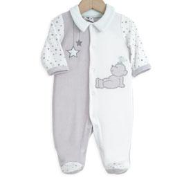Pyjama ours vert/gris/blanc 6 mois