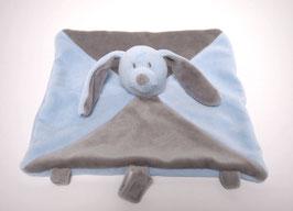 Doudou lapin bleu/gris