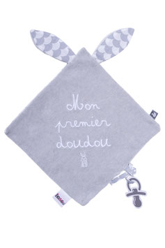 "Doudou "" mon premier doudou "" gris"