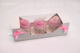 Cupcakes surprise 100% craquante rose