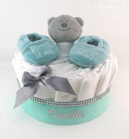 Mini diaper cake le mec parfait avec doudou