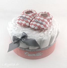 Mini diaper cake p'tite nana
