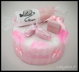 Diaper cake douceur de rose