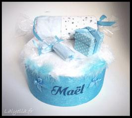 Diaper cake douceur de bleu