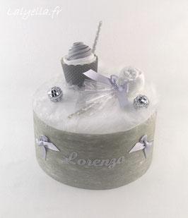 Mini diaper cake douceur de gris