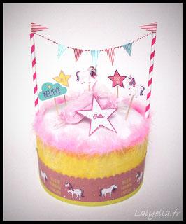 Diaper cake licorne