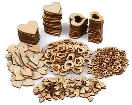 Herzen aus Holz zum Nachwurf