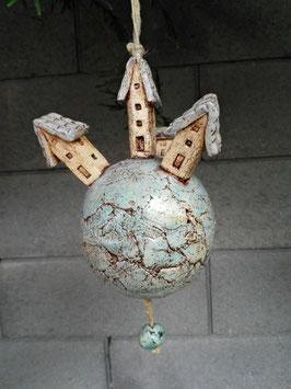 Keramik Glocke Häuser