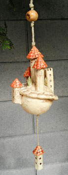 Keramik Glocke Burg