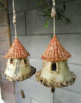 2 Keramik Glocken