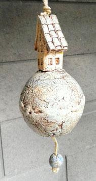 Keramik Glocke Haus