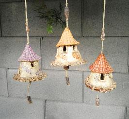 3 Keramik Glocken
