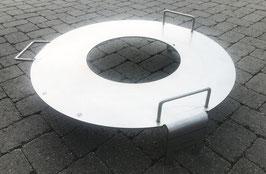 «S» Kon-Tiki Feuerring Chromstahl