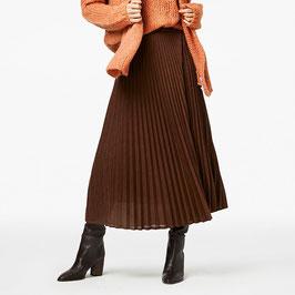 Simple Rebbel plisse lurex skirt choclate brown
