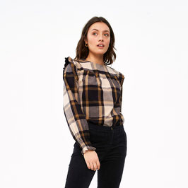 By Bar Mila check blouse