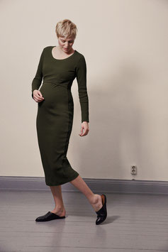 Signe dress moss green