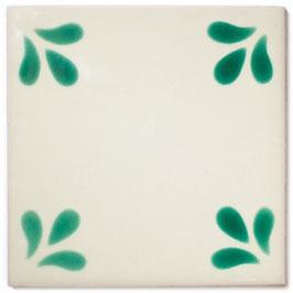 OS 5 Grün - 11x11 cm - Mexiko Fliese