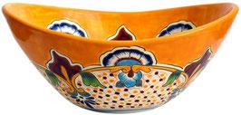 PUEBLA - MEX7 Aufsatzwaschbecken oval aus Mexiko