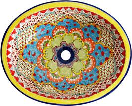 TALAVERA 1 - Einbauwaschbecken oval groß aus Mexiko