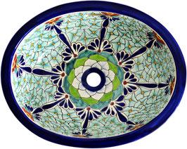PASION - Einbauwaschbecken oval aus Mexiko