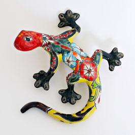 Gecko aus Keramik - Mexiko Eidechse - Bunt/Gelb C